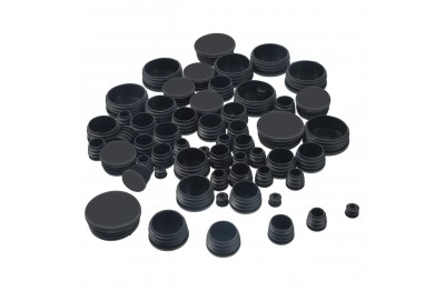1-1/16 in  x 7/8 in  Black Rubber Stopper/Rubber Plug