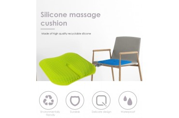 Silicone molding Massage Seat Cushion Wholesale, comfortable Chair/Car Silicone Mat Cushion Supplier 420*420*20MM from China
