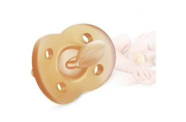 Newborn Baby Pacifier Soft Silicone Flat Head Pacifier