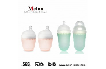 Off-centered Nipple Silicone Baby Gentle Bottle
