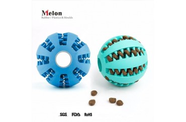 Silicone Pet Toy,Dog Treat Tooth Cleaning Chewing Ball