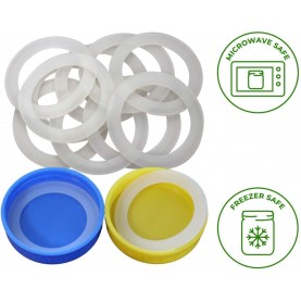 Customized Food Grade FDA Silicone Rubber Sealing Gasket for Lids Seal