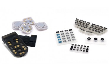 Soft Conductive Adhesive Silicone Rubber Button Keypads with Conductive Pills