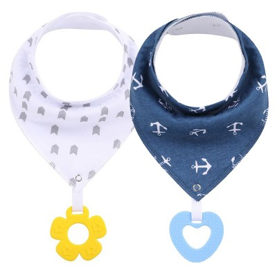 Bandana Bibs With Teether