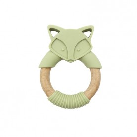 Wholesale Silicone Teether,Original Wood and Silicone Teething Ring