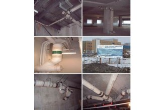 Canadian Standard CSA B-602---Do you have paid attention to the pipes and rubber sleeve between wall-- rainwater drainage inside, condominiums, high-rise buildings