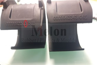 German custom-made 80 Shore neoprene rubber products completed with clear lettering