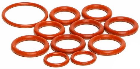 Durometer colored elastic large diameter o-rings